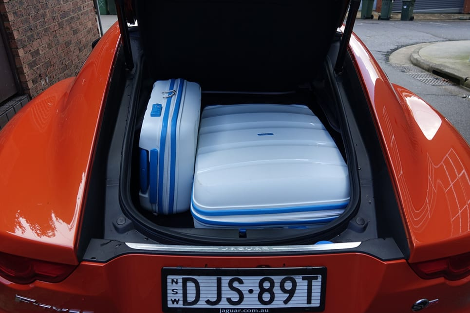 There's enough room to swallow the smallest (35-litre) and largest (105-litre) of our hard suitcases. (Image credit: James Cleary)
