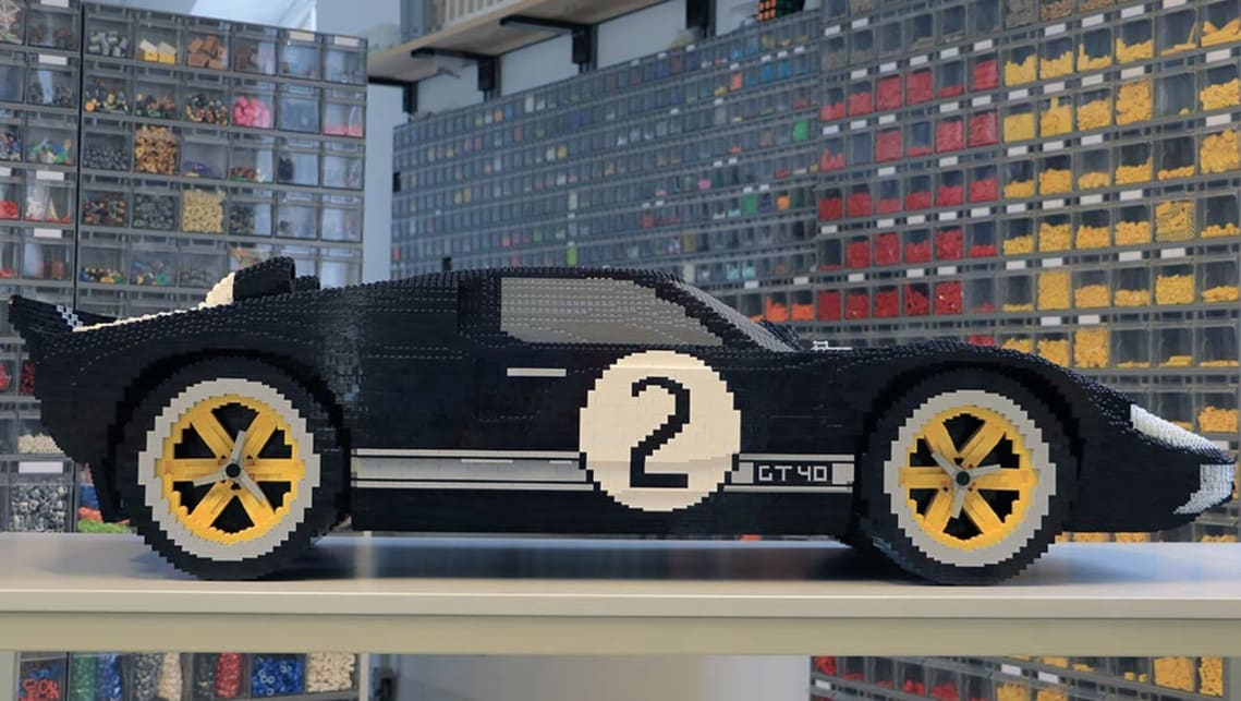 Ford GT40 replicated with Lego.