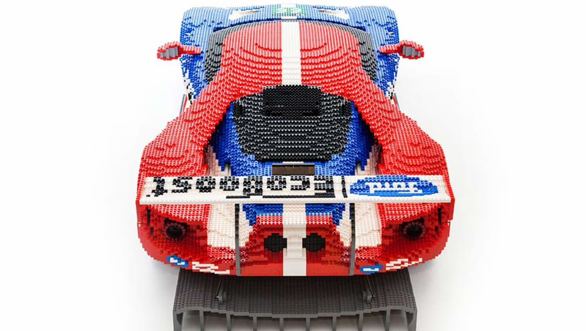 Ford GT replicated with Lego.