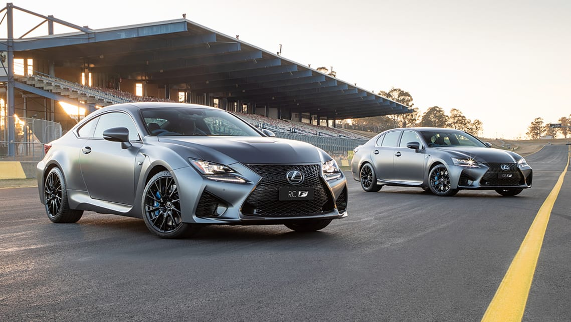 Both the Lexus RC F coupe and the GS F sedan are powered by a 351kW/530Nm 5.0-litre naturally aspirated V8.