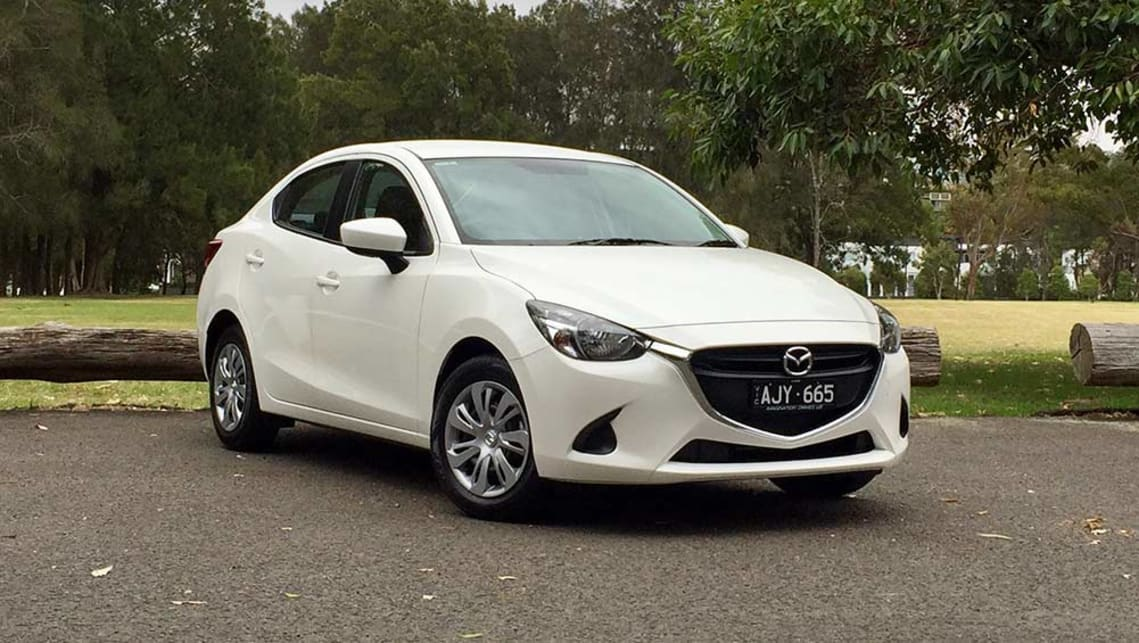 2017 Mazda2 Neo Sedan. Image credit: Richard Berry.