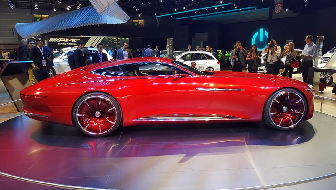 The Vision Mercedes-Maybach 6 concept proves that beautiful design is just a big red coupe away.