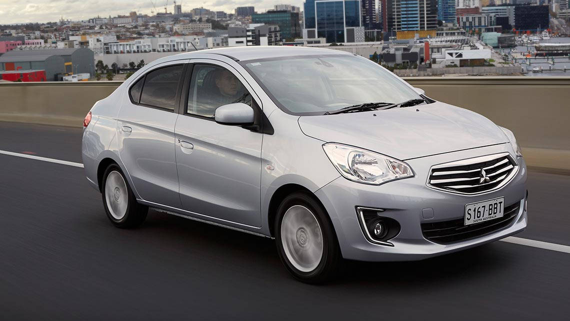 Mitsubishi Mirage sedan.