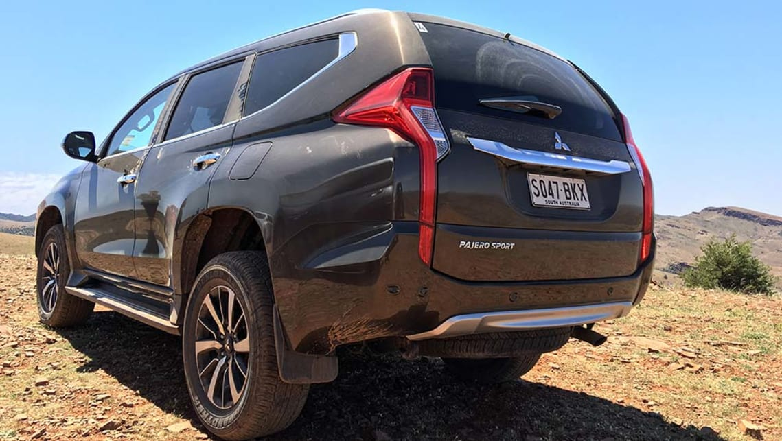 2016 Mitsubishi Pajero Sport Exceed in the South Australian Outback. Image credit: Tim Robson.