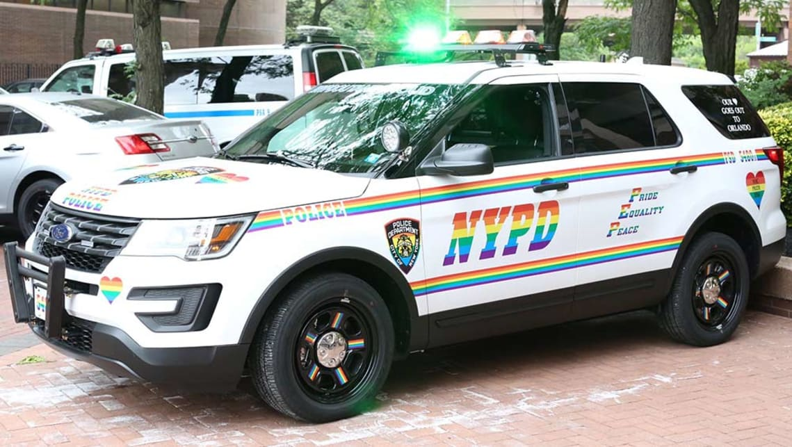 New York City Police Department Police Department Ford Explorer with Pride livery