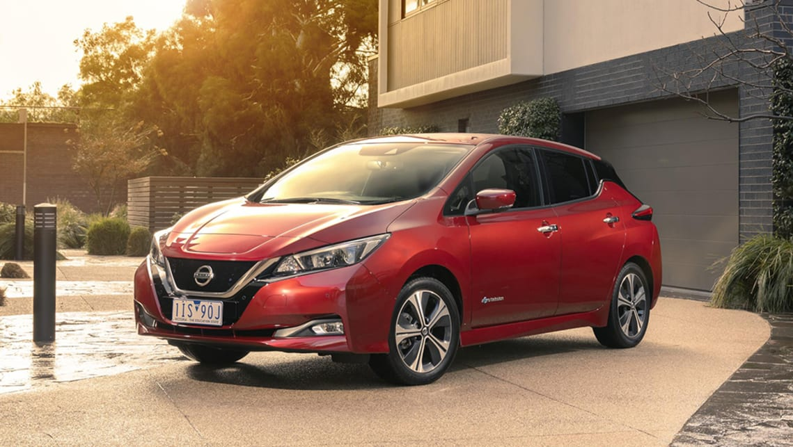 Nissan's Leaf has just been updated and now features a 300km range, still probably not quite enough to handle a day of stages. (image: supplied by manufacturer)