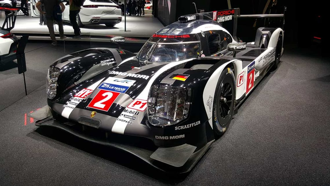 Romain Dumas, Neel Jani and Marc Lieb drove this Porsche 919 to victory in the 2016 Le Mans 24hr.