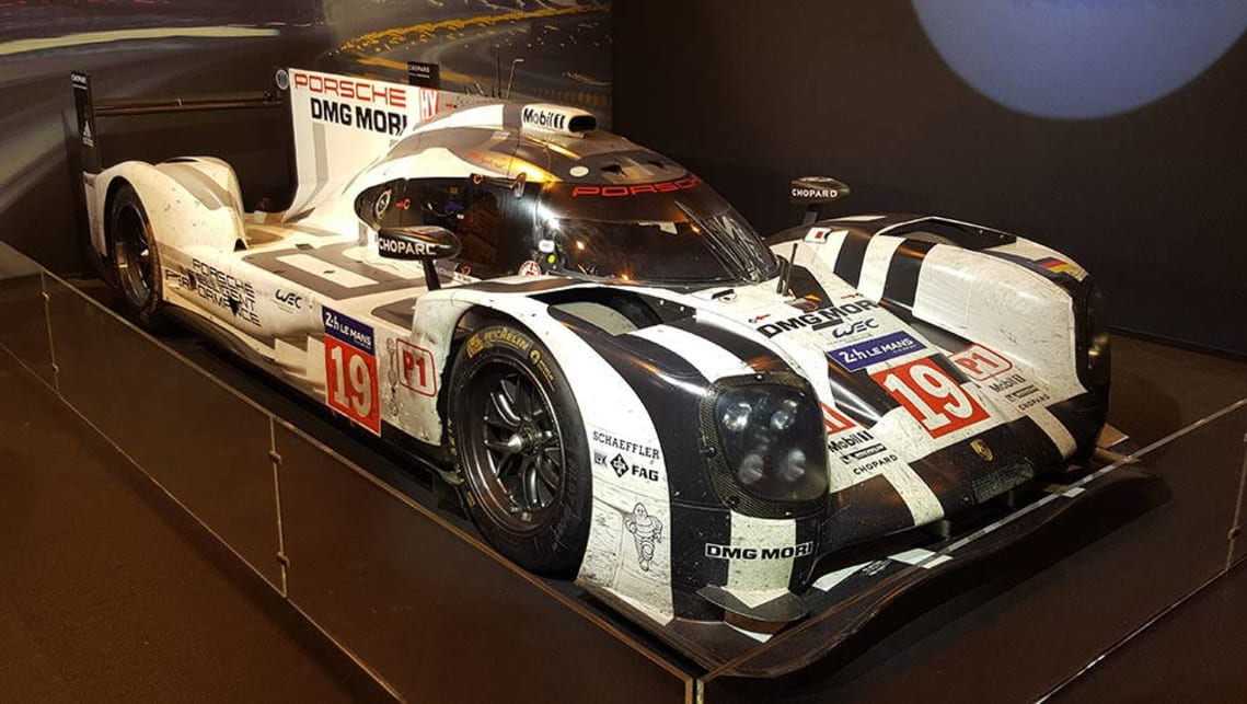 Nico Hulkenberg, Earl Bamber and Nick Tandy drove this Porsche 919 to victory in the 2015 Le Mans 24hr.