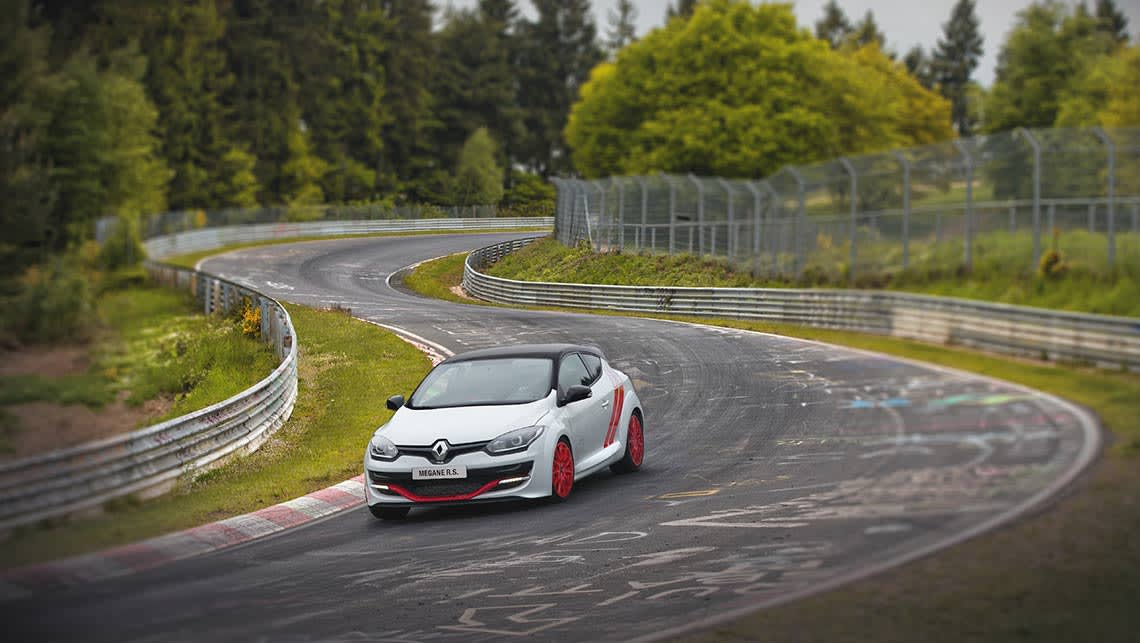 Renault Megane RS275 Trophy-R at the Nurburgring.