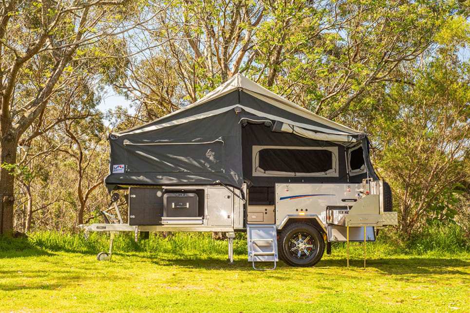 Signature Campers' Elite X forward-fold camper trailer is built for comfort and ease of use.