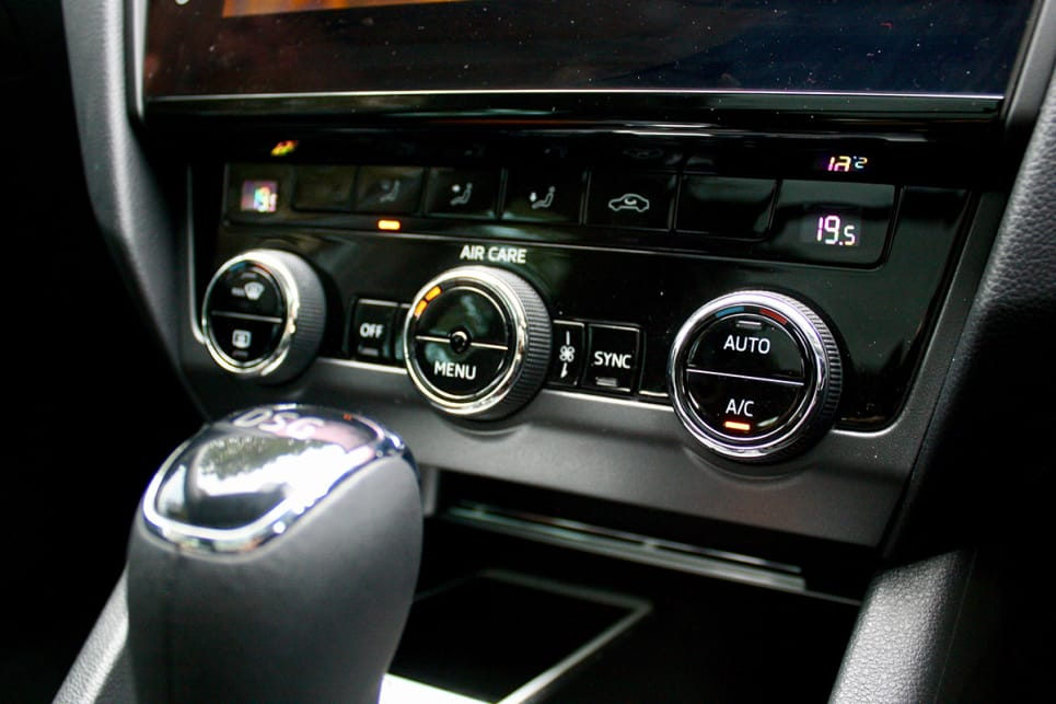 The base model Octavia is pretty well equipped, with USB and Bluetooth connectivity and dual-zone climate control.