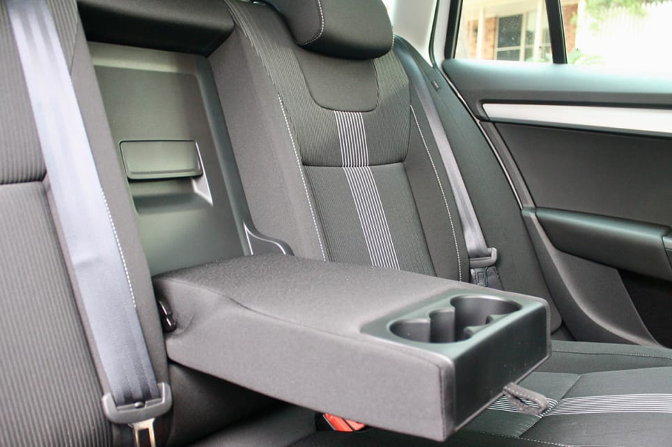 Storage is well thought out, with bottle holders in all four doors, map pockets in the back, rear air-vents and a flip-down armrest with cupholders.