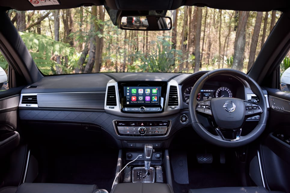 The SsangYong has the most luxurious, plushest interior.