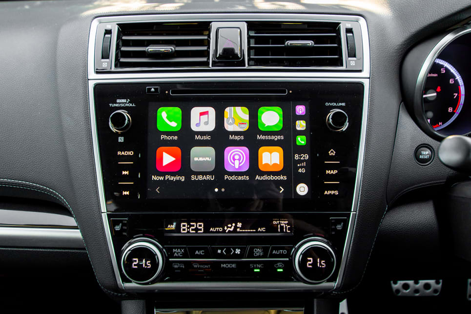 The 7.0-inch touchscreen is much improved and features Apple CarPlay and Android Auto.