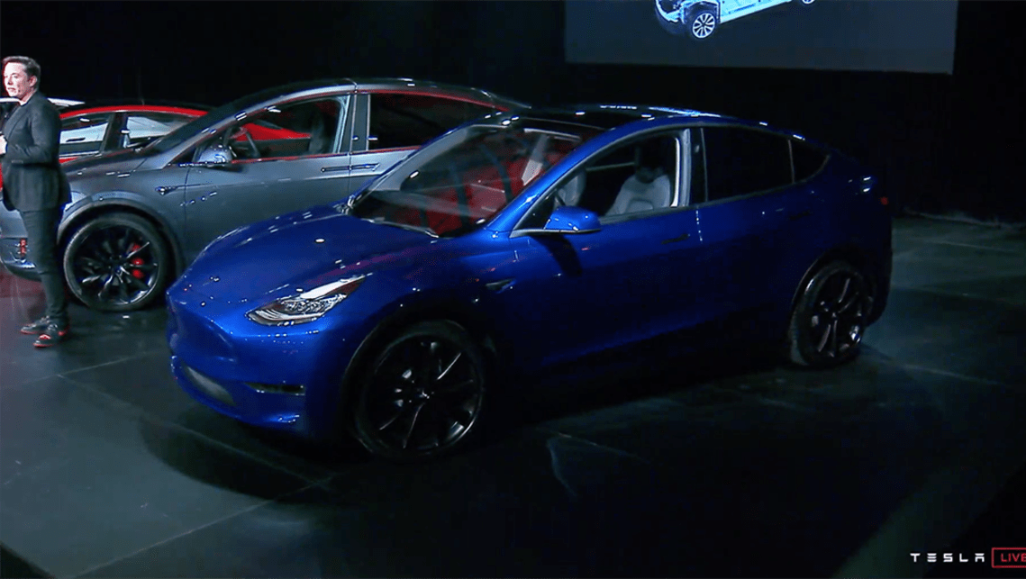"He claims the Model Y ""will be the safest midsize SUV in the world by far"", and that the car is aimed at family customers."