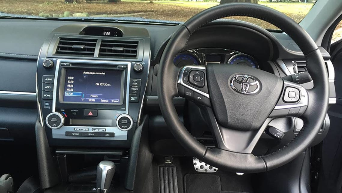2016 Toyota Camry Petrol Atara SX, interior. Picture credit: Richard Berry.