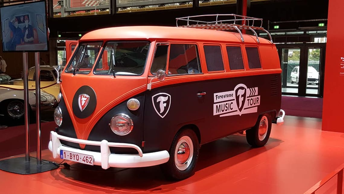 Volkswagen Kombi on the Firestone stand.