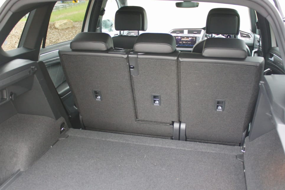 There's 615 litres (VDA) of luggage capacity available with five seats up.