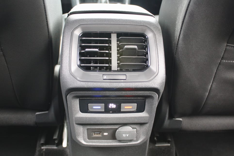 Three-zone climate control air conditioning is standard across the Tiguan range.