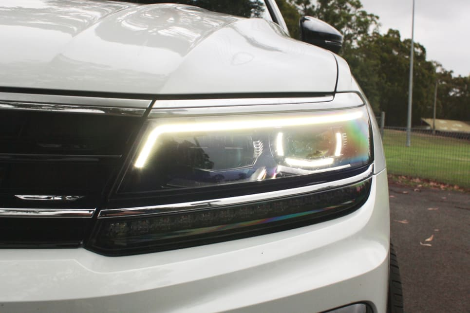 LED headlights are standard across the range.