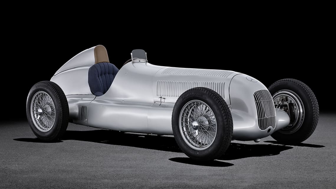 The first 'Silver Arrow', the W 25 Grand Prix car from 1934.