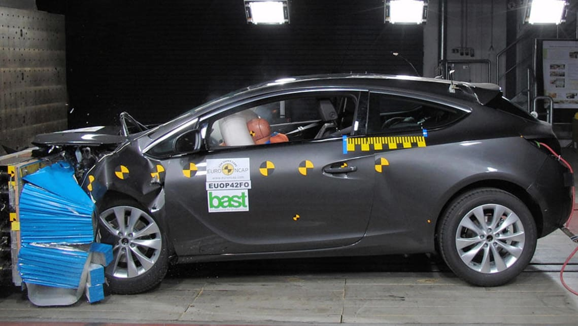 Holden's Astra continues to hold its five-star crash safety rating.
