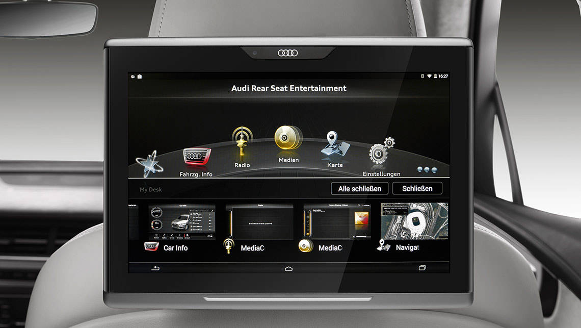 Back seat drivers will be able to control the Q7's climate control and multimedia system.