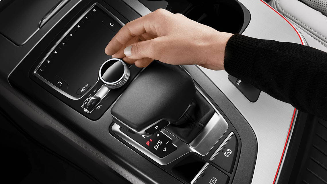The Audi Q7's multimedia system is controlled via a central touchpad.