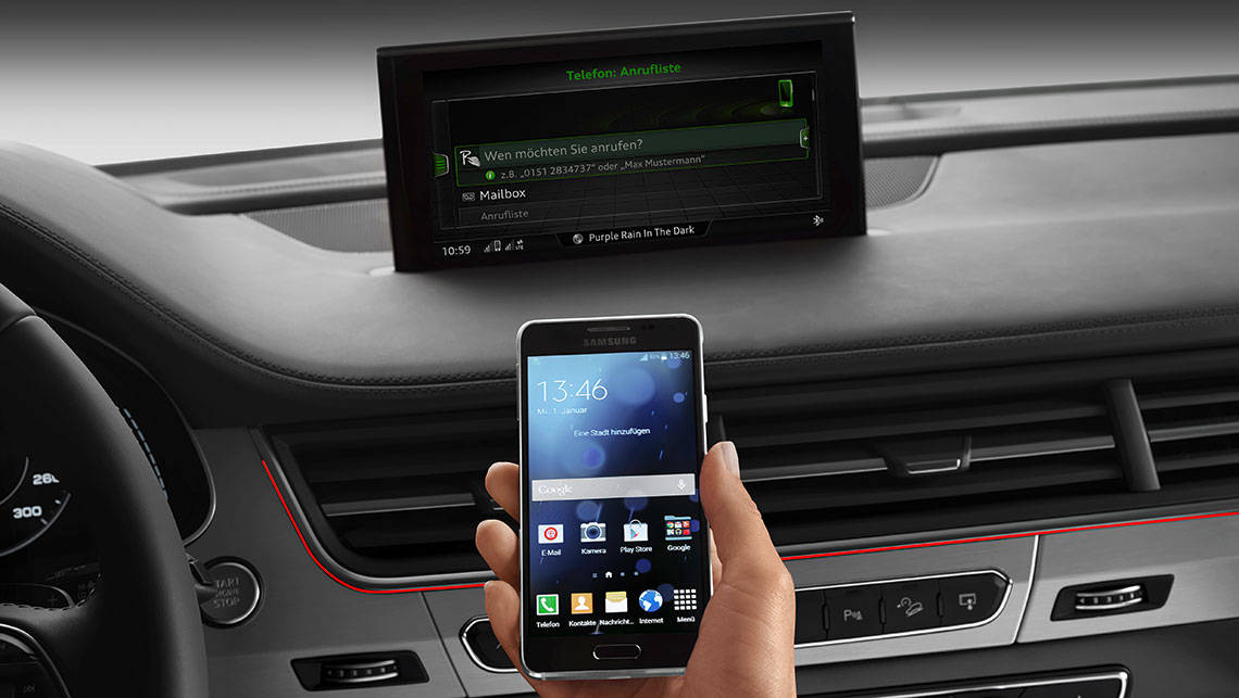 The new Audi Q7 will connect to your smartphone.