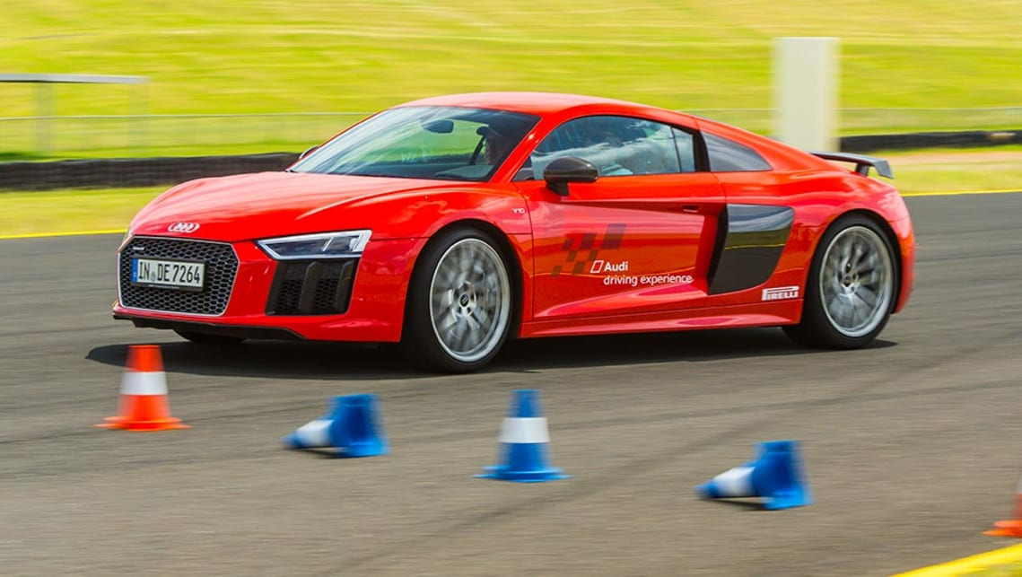 2016 Audi R8 V10 (overseas model) at Sydney motorsport park.