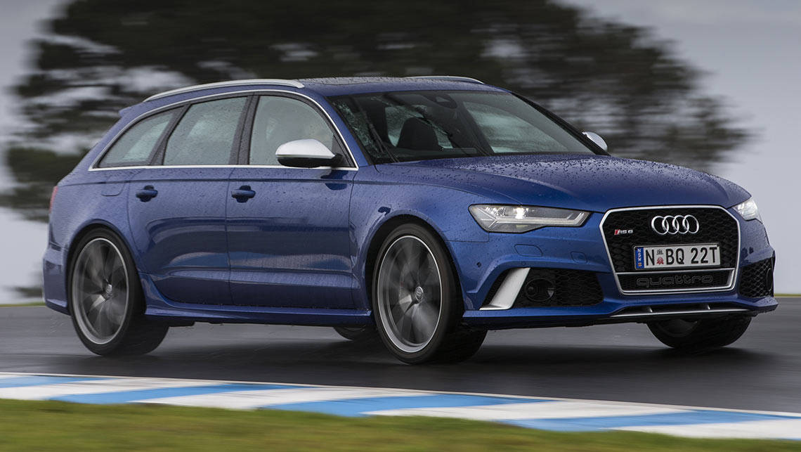 The four-ring brand's RS models go through their performance paces on popular track days.