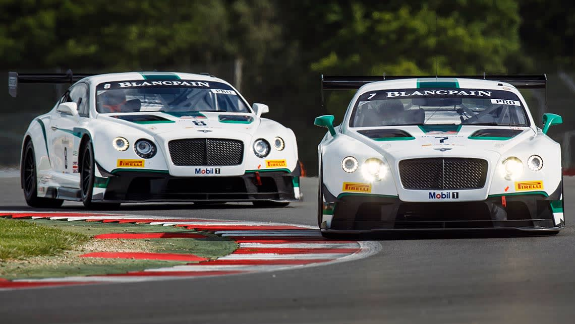 The Bentley Continental GT3 racer
