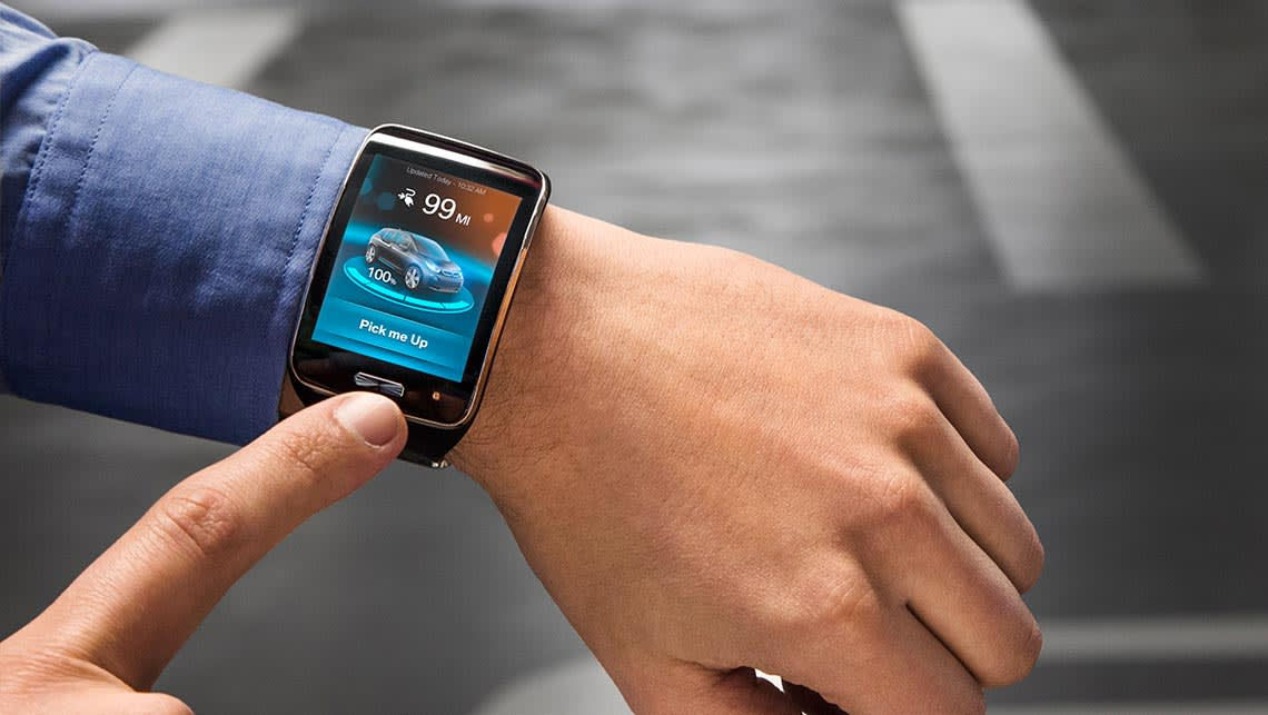 The Remote Valet Parking Assistant is controlled via a smartwatch.