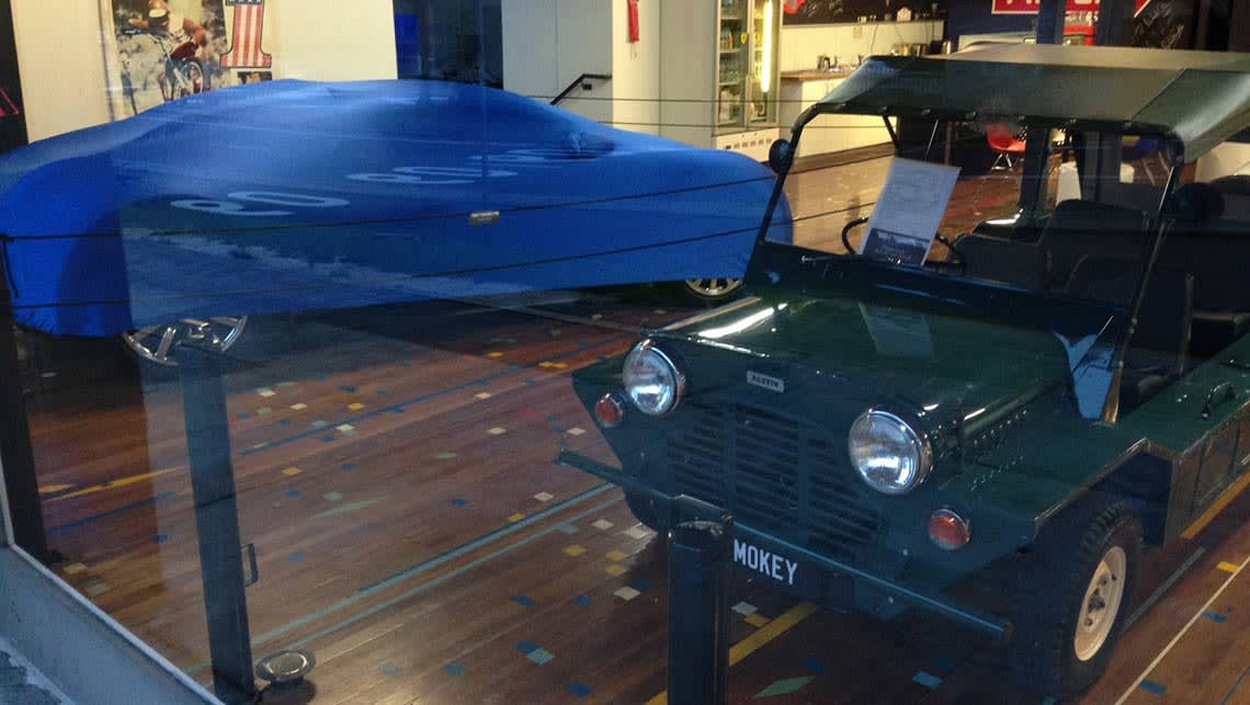 Bugatti Veyron under wraps in the Sydney showroom.