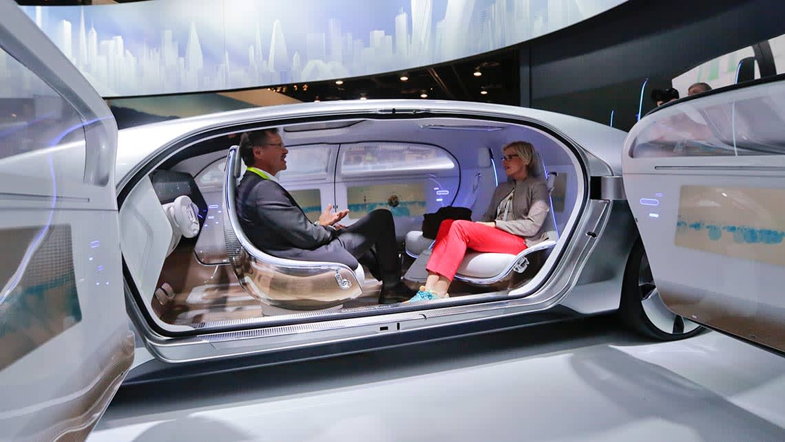 Mercedes-Benz F015 Luxury in Motion concept at CES 2015