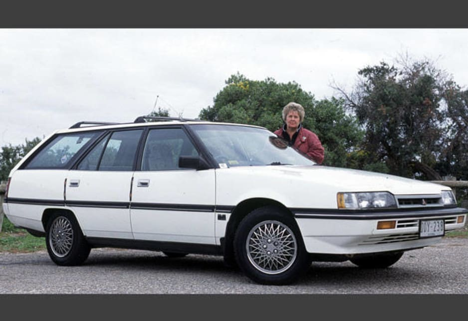 Proud owner Sue Lobban with her 1988 Magna Executive TN wagon