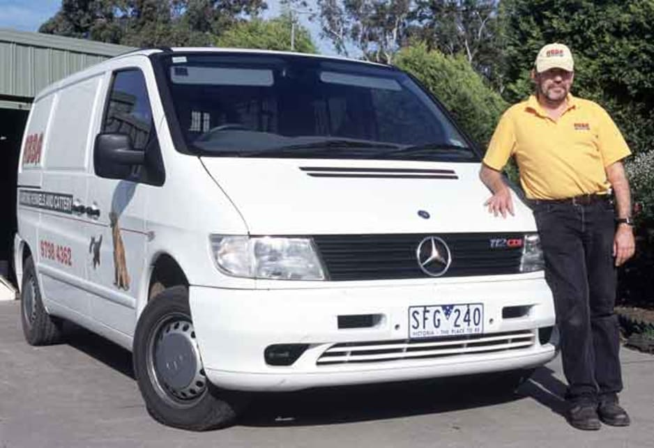 Dennis Cleghorn with his 2003 Mercedes Benz Vito 112CDi