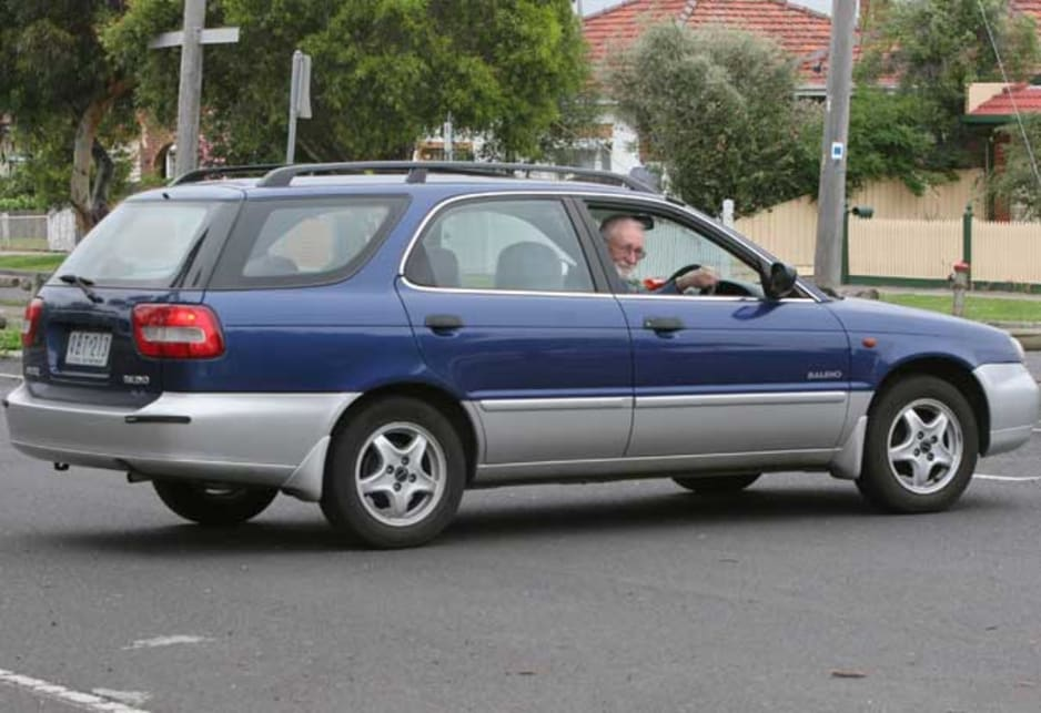 2000 Suzuki Baleno and owner Bill Callaghan