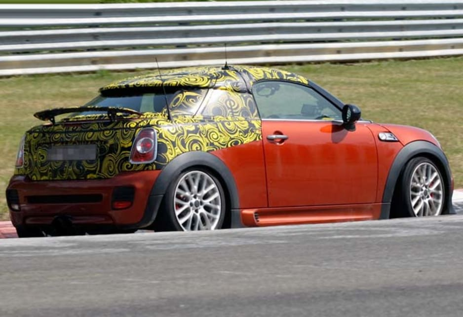 Mini Roadster JCW spy shots