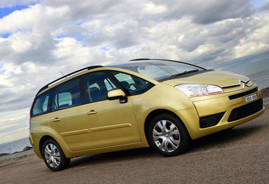 The surprisingly sleek Citroen Picasso C4 people mover.