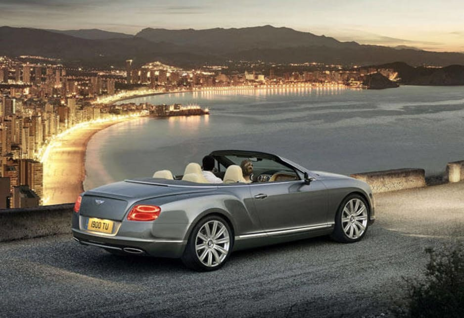 The GTC looks indecently attractive with the lid folded down, less so with it up.