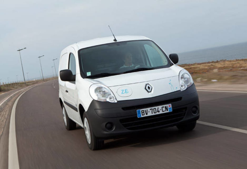 So Renault has high hopes of success for the business case they're mounting to bring the Kangoo ZE plug-in van here. Of the three vans available in Europe, the most likely to arrive is the smallest two-seater, with the Maxi two-seater also on the wish list and the five-seater very much an outside chance.