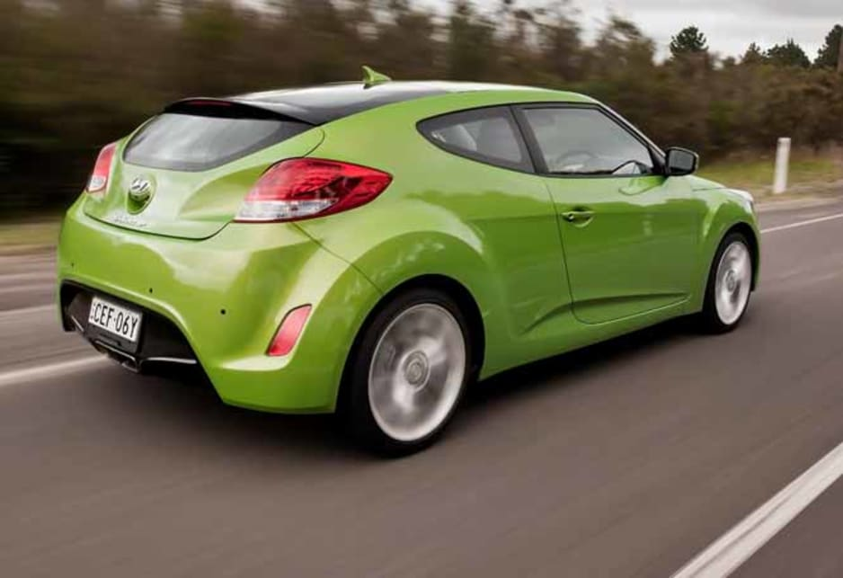 With a starting price of just $23,990 for the six-speed manual, it's no wonder the little Hyundai is selling so well in its early days. An upmarket Veloster + costs an extra $2000, while six-speed double-clutch automatic versions adds a further $2000.