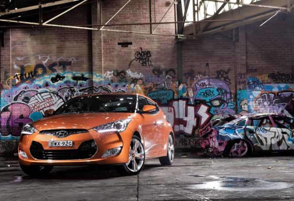 The Veloster Turbo is the basis for a tarmac-rally terror that headlines the Sydney automotive event for Hyundai.