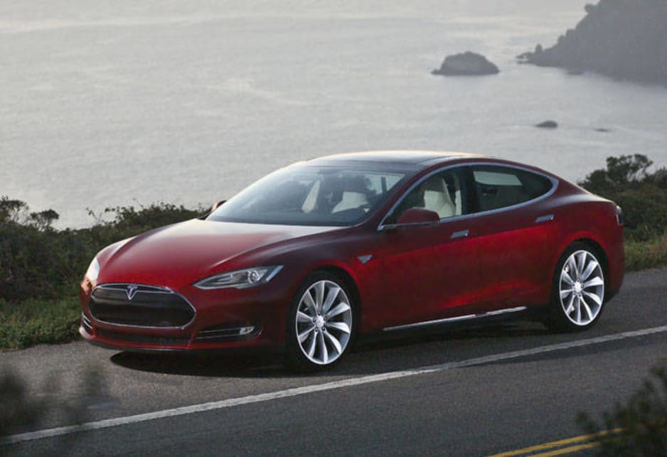 The Model S four-door liftback is powered by an AC electric motor with an 85 kilowatt-hour battery pack made of 5000 lithium-ion cells.