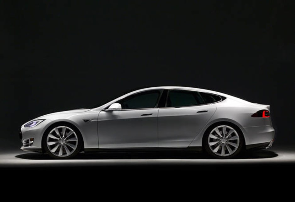 The Model S is a 5m long sedan that weighs 2.3 tonnes.
