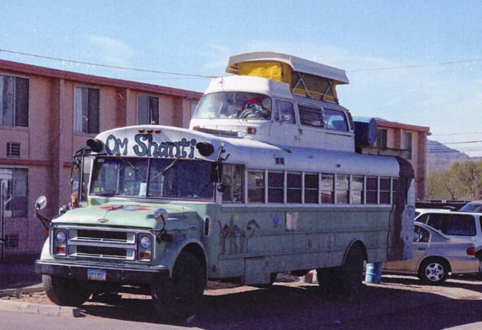 Even this bus in Arizona wanted to be a Kombi when it grew up.