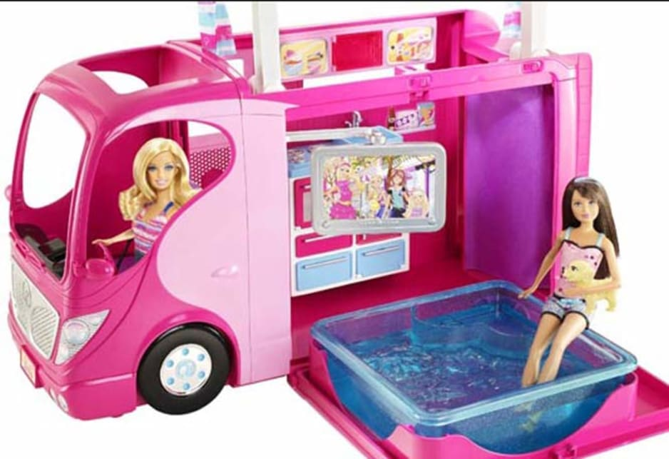 Barbie drives something else.