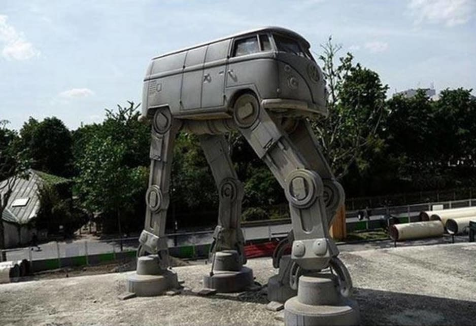 Star Wars walker Kombi. Menacing, and yet somehow you want to take it home with you.