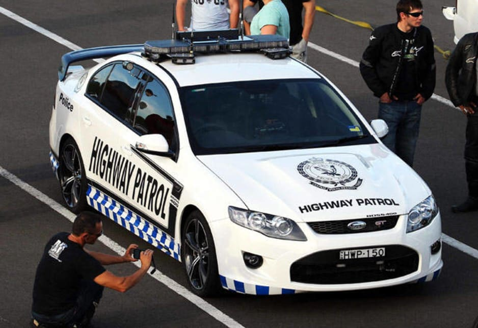 """I was a bit apprehensive at first, and so were the guys I think,"" says Senior Sergeant Mark Stevens, who took the car to its first meeting with revheads at Sydney Dragway at Eastern Creek on Wednesday night. ""But once people came up and started asking about the car, it was all good."" The first experiment appeared to be a success; someone at the event posted a photo of the police car on Facebook, which attracted 67 comments in half an hour."
